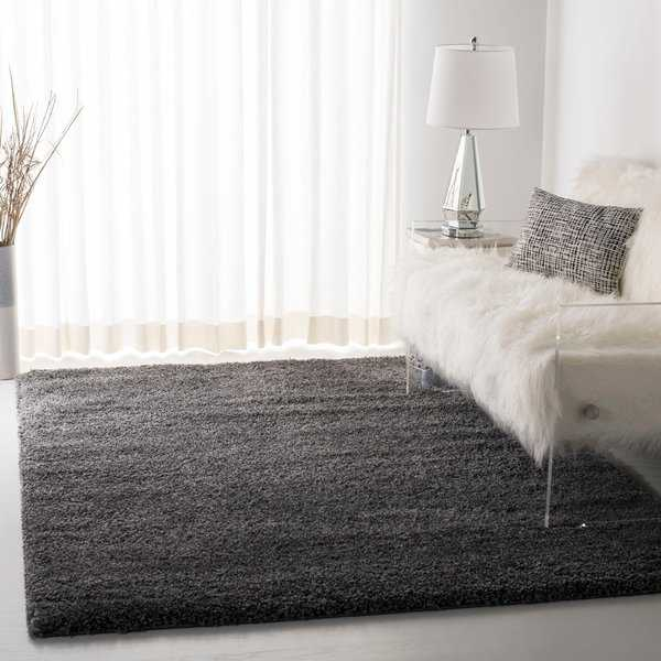 Safavieh Cozy Plush Dark Grey/Charcoal Shag Rug
