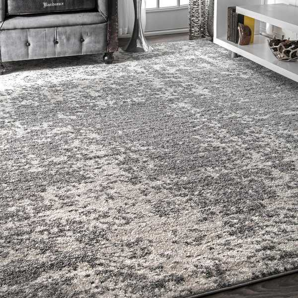 Porch & Den Seigel Granite Mist Shades Grey Rug - 7'6 x 9'6