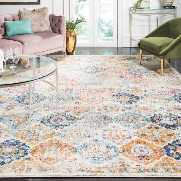 Safavieh Madison Bohemian Vintage Cream/ Multi Distressed Rug - 8' x 10'