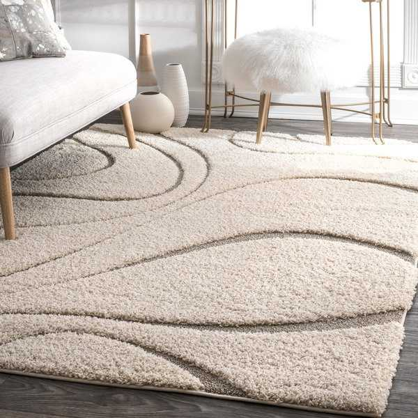 nuLOOM Luxuries Posh Ivory Shag Rug