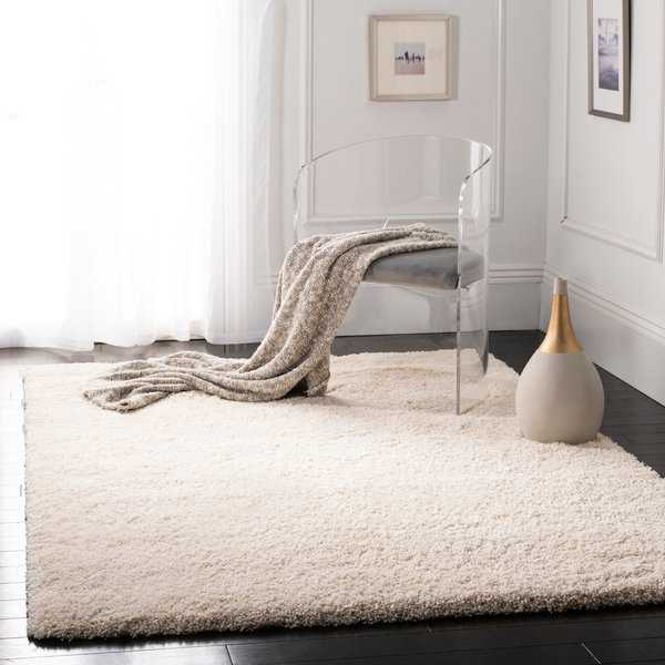 Safavieh California Cozy Plush Ivory Shag Rug - 6'7' x 9'6'