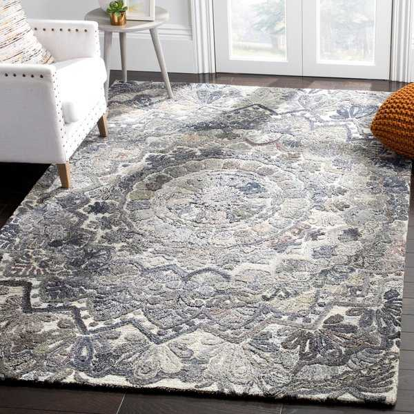 Safavieh Marquee Handmade Ornate Wool Grey/ Multi Area Rug - 8' x 10'