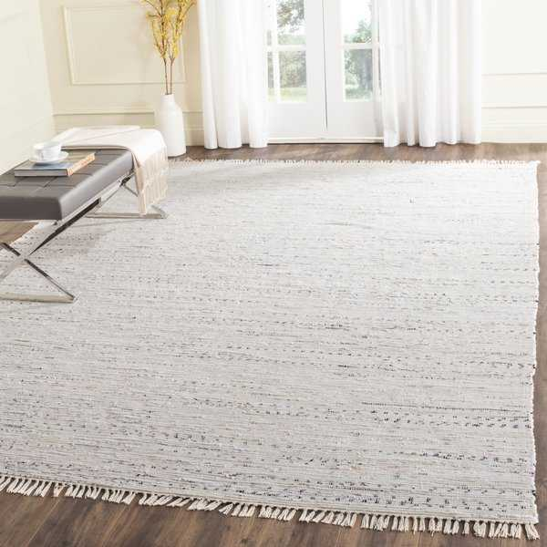 Safavieh Hand-woven Rag Rug White/ Multi Cotton Rug - 4' x 4' Square