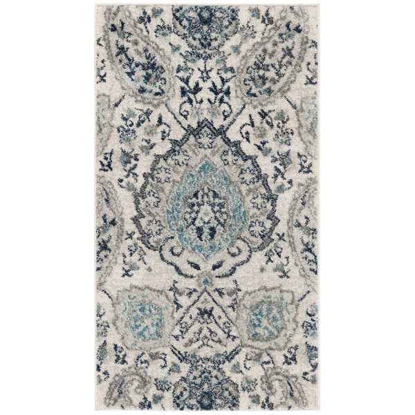 Safavieh Madison Paisley Boho Glam Cream/ Light Grey Rug - 2'3' x 4'